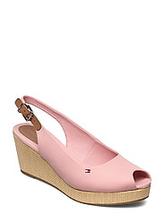 ICONIC ELBA SLING BACK WEDGE - SOOTHING PINK