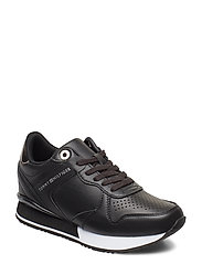 DRESSY WEDGE SNEAKER - BLACK