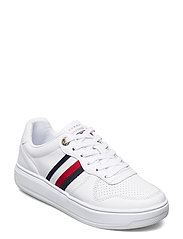 TOMMY TAPE LEATHER CUPSOLE - WHITE