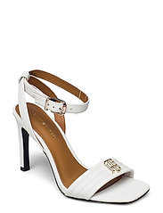 TOMMY PADDED HIGH HEEL SANDAL - ECRU