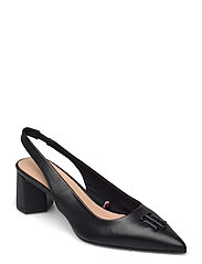FEMININE SLING BACK PUMP - BLACK