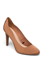 TOMMY ESSENTIAL HIGH HEEL PUMP - DUSTY BRONZE