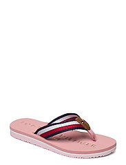 TOMMY RIBBON FLAT BEACH SANDAL - SOOTHING PINK