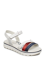 MULTISTRAPS/VELCRO SANDAL - OFF WHITE/MULTICOLOR