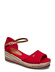 ROPE WEDGE SANDAL - ROSSO