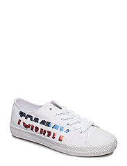 LOW CUT LACE-UP (can. ivory) - BIANCO