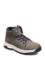 MID CUT LACE-UP SHOE GREY - GRIGIO