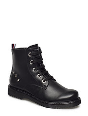 LACE-UP BOOTIE - NERO