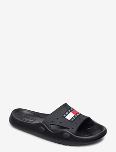 HERITAGE TOMMY JEANS - badslippers - black