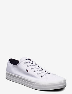 LONG LACE UP VULC - low tops - white