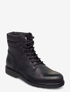 CLASSIC TOMMY JEANS LACE UP BOOT - kängor med snörning - black