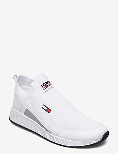 TOMMY JEANS FLEXI SOCK RUNNER - laag sneakers - white