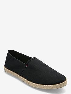 TOMMY JEANS ESSENTIAL ESPADRILLE - kengät - black