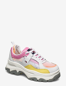 RECYCLED MESH FLATFORM SHOE - chunky sneakers - white