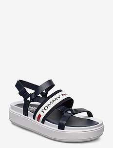 CHUNKY TAPE SANDAL - flat sandals - twillight navy