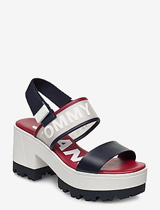 POP COLOR MID HEEL SANDAL - højhælede sandaler - twillight navy