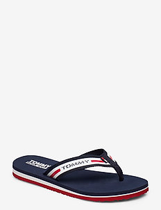 CHUNKY TAPE FLAT BEACH SANDAL - flip flops - twillight navy