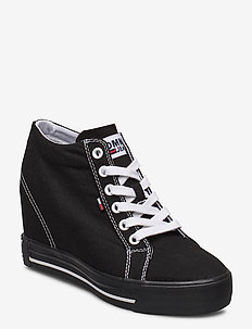 WEDGE CASUAL SNEAKER - chunky sneakers - black