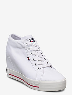 WEDGE CASUAL SNEAKER - WHITE