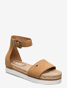 NATURAL ROPE SANDAL - flade sandaler - dusty bronze