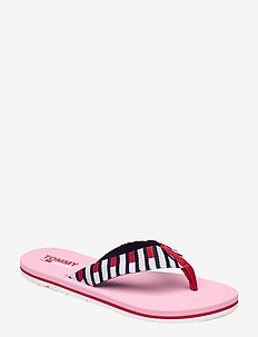 FLAG WEBBING BEACH SANDAL - flat sandals - bubble pink
