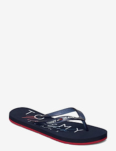 RUBBER THONG BEACH SANDAL - flip flops - twilight navy