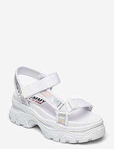 IRIDESCENT HYBRID SANDAL - flat sandals - white