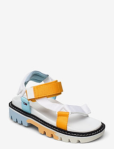 COLOR POP TOMMY JEANS SANDAL - flat sandals - white