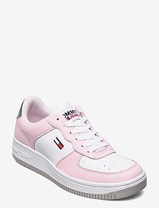 WMNS TOMMY JEANS BASKET SNEAKER - low top sneakers - light pink