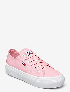 TOMMY JEANS FLATFORM VULC - sneakers - iced rose
