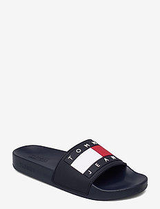 TOMMY JEANS FLAG POOL SLIDE - pool sliders - twilight navy
