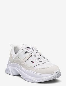 TOMMY JEANS LIGHTWEIGHT SHOE - sneakersy niskie - white