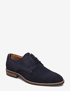 ESSENTIAL SUEDE LACE UP DERBY - snøresko - midnight