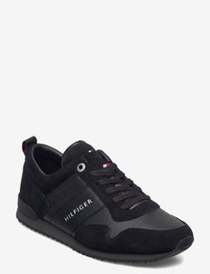 ICONIC LEATHER SUEDE MIX RUNNER - lav ankel - black
