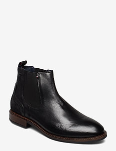 ELEVATED LEATHER MIX CHELSEA - BLACK