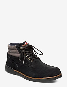 OUTDOOR SUEDE HILFIGER BOOT - BLACK