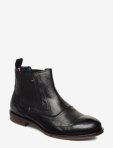 DRESS CASUAL LEATHER CHELSEA - chelsea boots - black