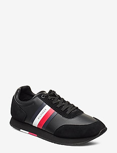 CORPORATE LEATHER FLAG RUNNER - lave sneakers - black