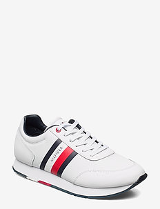 CORPORATE LEATHER FLAG RUNNER - lave sneakers - white