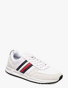 MODERN CORP LEATHER RUNNER - lave sneakers - white