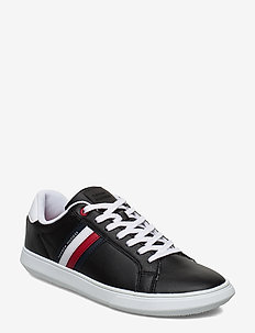 ESSENTIAL LEATHER CUPSOLE - lave sneakers - black