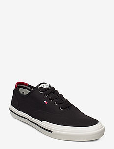 CORE OXFORD TWILL SNEAKER - lave sneakers - black