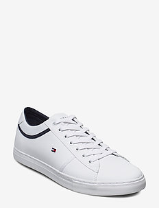 ESSENTIAL LEATHER SNEAKER - lave sneakers - white