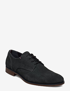CASUAL EMBOSSED SUEDE SHOE - lackschuhe - green slate
