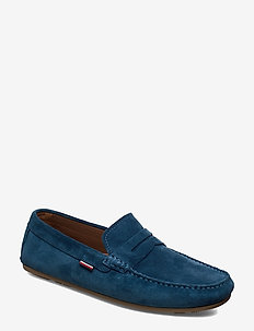 CLASSIC SUEDE PENNY LOAFER - BLUE DOCK