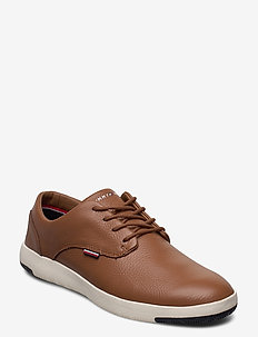 LIGHWEIGHT CITY LEATHER SHOE - snøresko - natural cognac