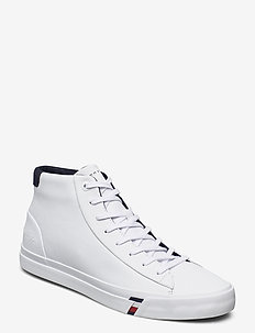 CORPORATE LEATHER SNEAKER HIGH - höga sneakers - white