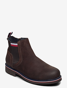 CORPORATE ELASTIC SUEDE BOOT - chelsea boots - cocoa