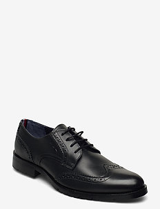 BROGUE LEATHER LACE UP SHOE - laced shoes - dark ash