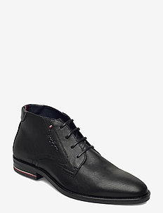 SIGNATURE HILFIGER LEATHER BOOT - laced shoes - black
